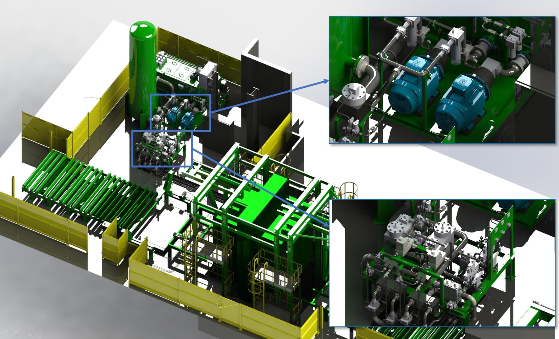 Instalacja hydrauliczna prasy